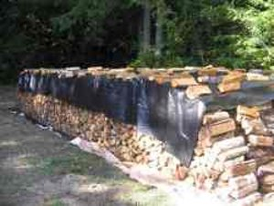 Covering Firewood